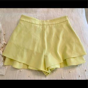 Yellow Zara Shorts